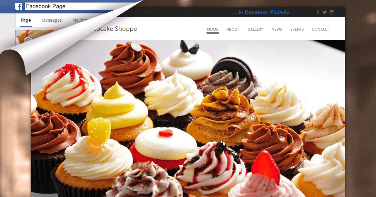FB Page To Website Conversion For Cake Shoppe Shared By iBeFound fb Website Builder NZ