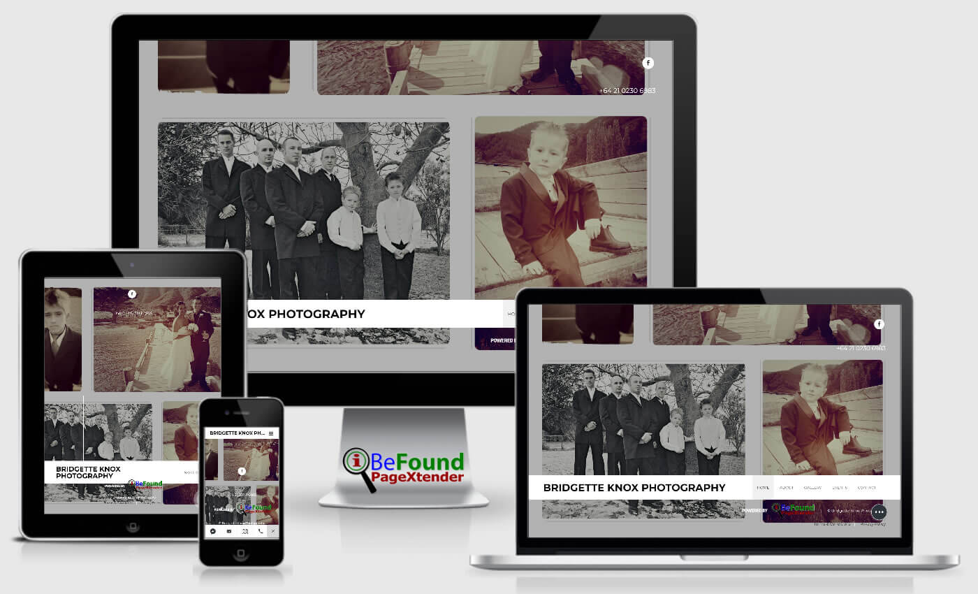 Facebook Website For Bridgette Knox Photography Created With IBeFound FB PageXtender NZ