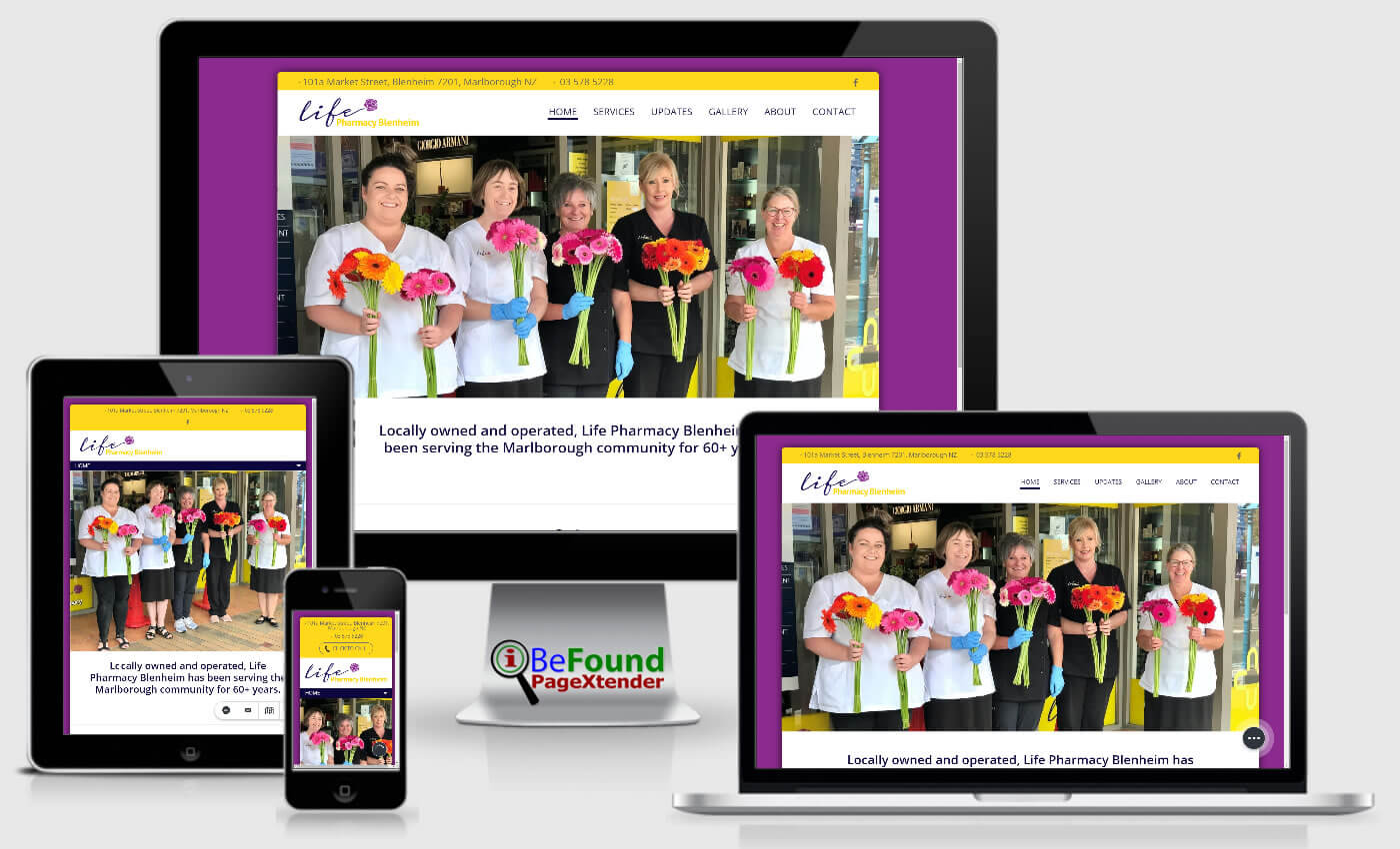 Facebook Website For Life Pharmacy Blenheim Created With IBeFound FB PageXtender NZ