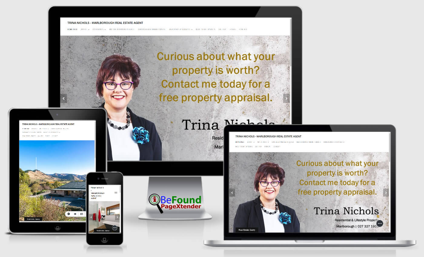 Facebook Website For Trina Nichols Marlborough Real Estate Agent Created With IBeFound FB PageXtender NZ