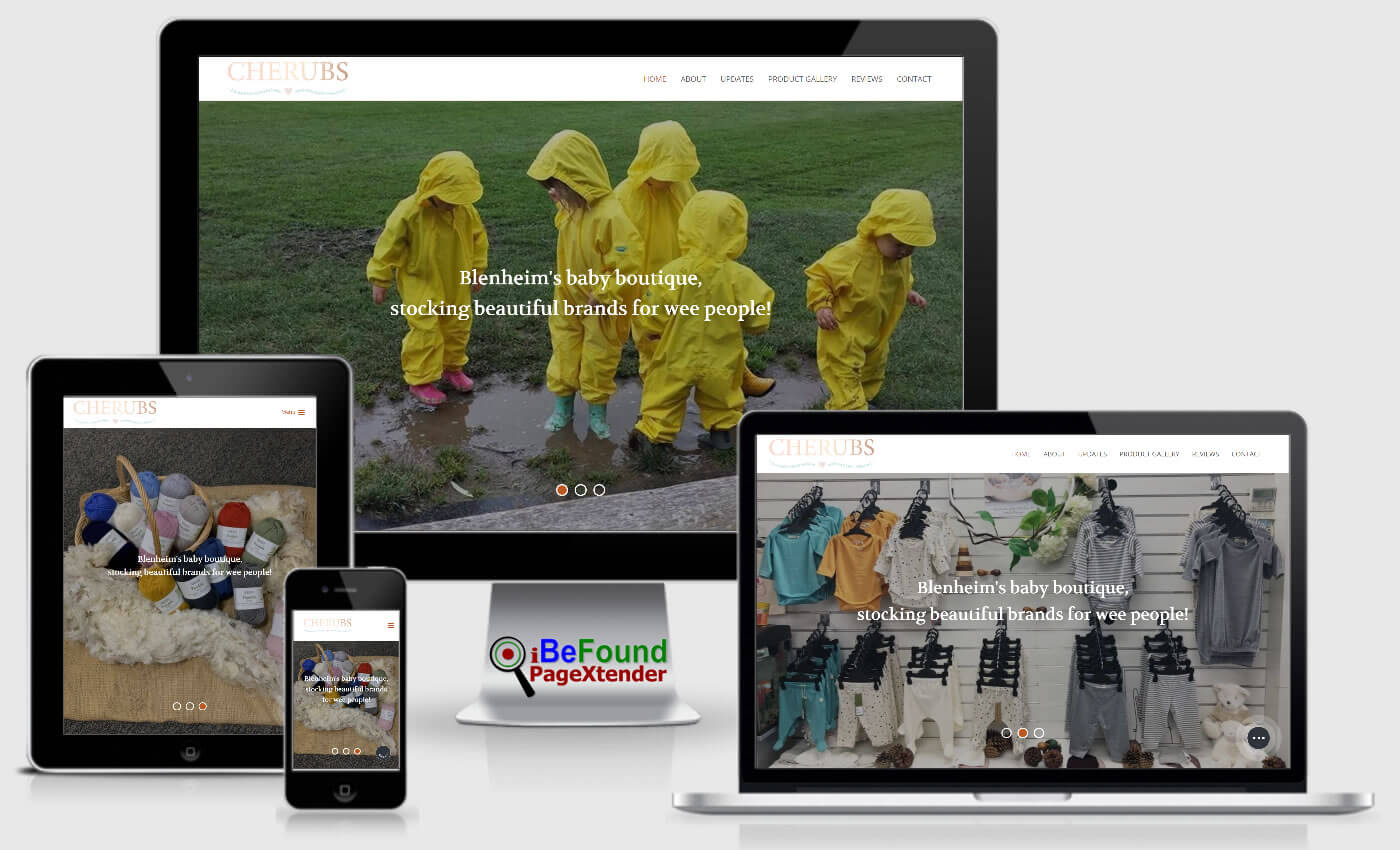 Instant Business Website For Cherubs Created With PageXtender From iBeFound NZ